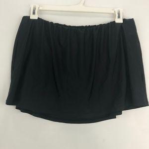 Island Escape Swim Skirt Attached Bikini Black 20W
